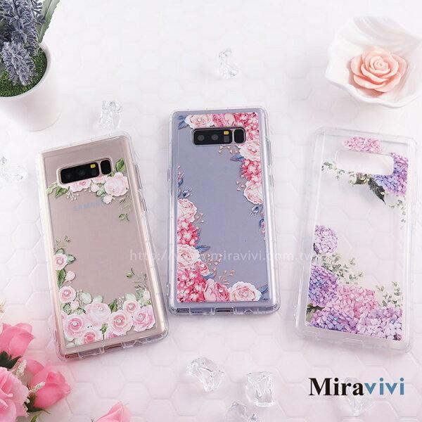 Miravivi:Miravivi原創時尚SamsungGalaxyNote8施華洛世奇水鑽花語防摔氣墊空壓保護套