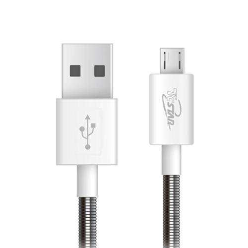 Micro USB 彈簧PVC 1M 高速充電傳輸線 T.C.STAR (TCW-U5100)