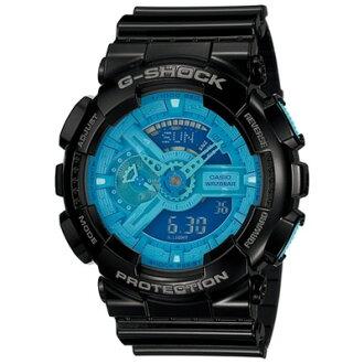 CASIO G-SHOCK GA-110B-1A2藍黑時尚街頭流行腕錶/51mm