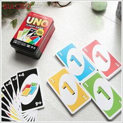 《台中不囉唆》UNO牌 鐵盒裝桌面遊戲牌 桌遊/遊戲/玩具/紙牌/UNO/派對/親子同樂【A408567】