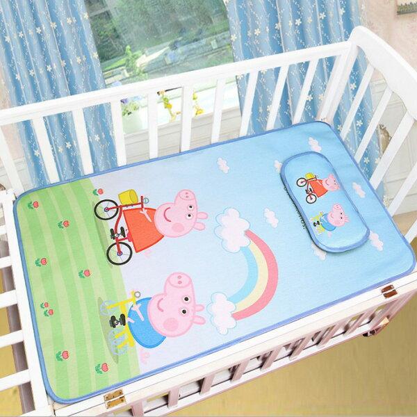 糖衣子輕鬆購【BA0106】夏季兒童寶寶嬰兒床涼席幼稚園床位墊子冰絲涼蓆
