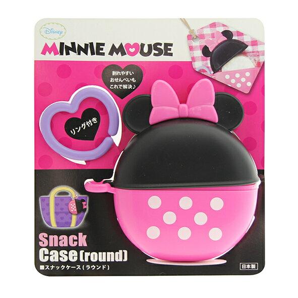 日本 迪士尼 Disney 美妮攜帶式圓形餅乾盒