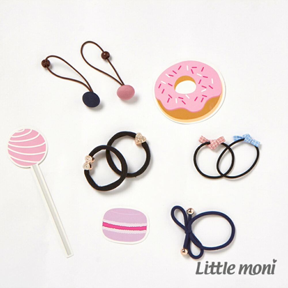 Little moni 造型髮圈四入 (不挑款)(好窩生活節) - 限時優惠好康折扣