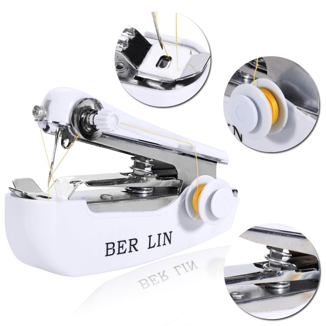 Household Mini Portable Hand-held Clothes Fabric Sewing Machine 1