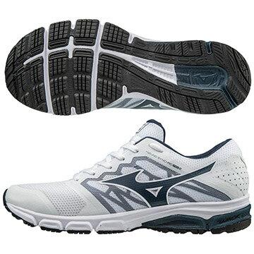 J1GE171818 (白X藍)  MIZUNO SYNCHRO MD 2  休閒款男慢跑鞋 S【美津濃MIZUNO】