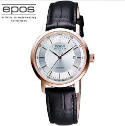 EPOS ORIGINALE原創系列 機械女錶 4387.152.24.18.15FB 銀x玫塊金框/32mm
