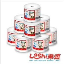 Leshi樂適 - 嬰兒乾濕兩用布巾 家居補充組 (800抽) 補充捲x8