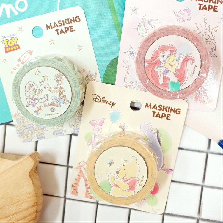 PGS7 日本迪士尼系列商品 - 迪士尼 粉嫩 手繪 系列 紙膠帶 貼紙 維尼 愛麗兒 玩具總動員【SHJ7328】