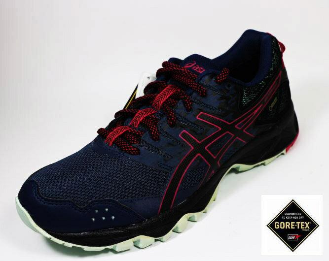 ASICS 亞瑟士GEL-SONOMA 3 女 防水GORE-TEX 輕量 越野 慢跑鞋 T777N-5090(灰藍x粉)[陽光樂活]