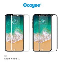 強尼拍賣~Cooyee Apple iPhone X 3D 滿版玻璃貼(亮面) 全膠 滿版 全屏 高透光率 9H硬度 2.5D 鋼化膜