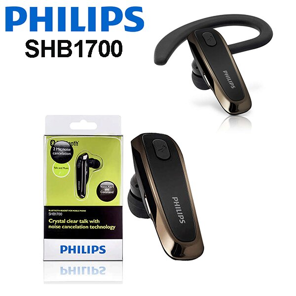 PHILIPS 飛利浦 SHB1700 耳掛入耳式藍牙耳機,公司貨一年保固