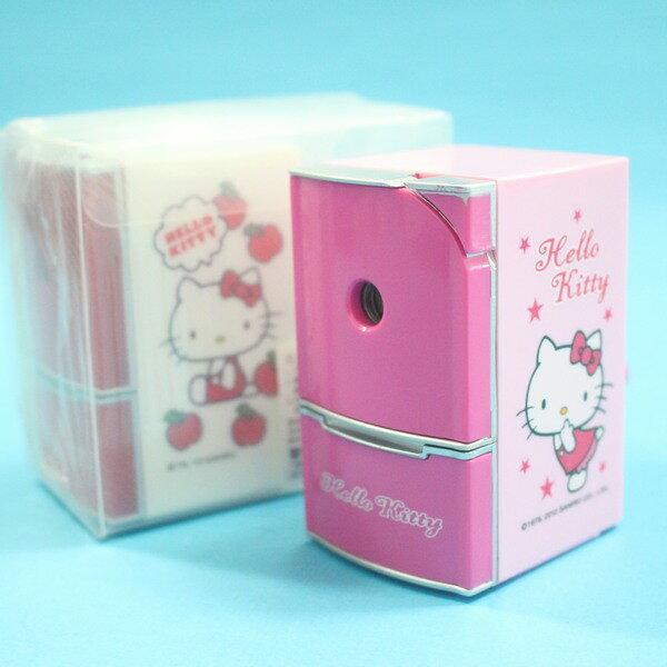 Hello Kitty凱蒂貓 削鉛筆機 KT冰箱造型削鉛筆機/一台入{促250}