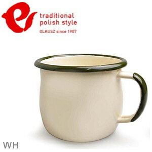 Emalia Olkusz 波蘭百年琺瑯杯/牛奶杯/琺瑯馬克杯350ml TPS 米白 WH