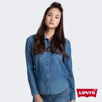 牛仔襯衫推薦到Levis 女款 牛仔襯衫 / Barstow V型雙口袋 / 經典修身版型 / 淺藍水洗 W就在LEVIS官方旗艦店推薦牛仔襯衫