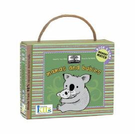 【淘氣寶寶】innovativeKids Book & Game Set: Mamas and Babies 厚紙書+遊戲閃卡- 媽媽寶寶