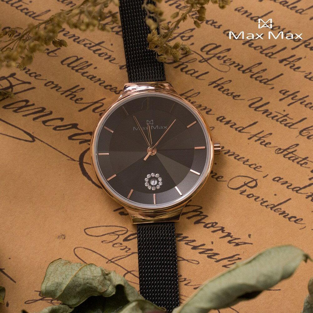 【完全計時】手錶館│MaxMax 原廠公司貨 璀璨黑尖錐鏡面款MAS7027-1