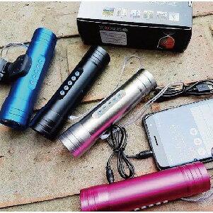 美麗大街【BK106022202】 多角度 USB充電自行車前燈音響 頭燈 [附音源線 充電線 底座]