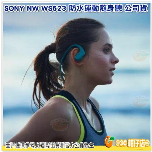 免運 送收納盒 SONY NW-WS623 藍芽防水運動隨身聽 台灣索尼公司貨 含4G 頸掛式 運動型 MP3 游泳 極速充電 WS623 0
