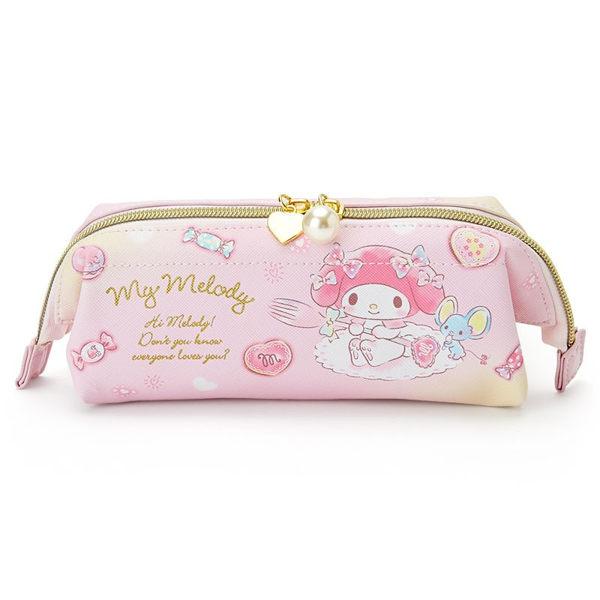 日本美樂蒂筆袋收納袋化妝包T字菊花924525