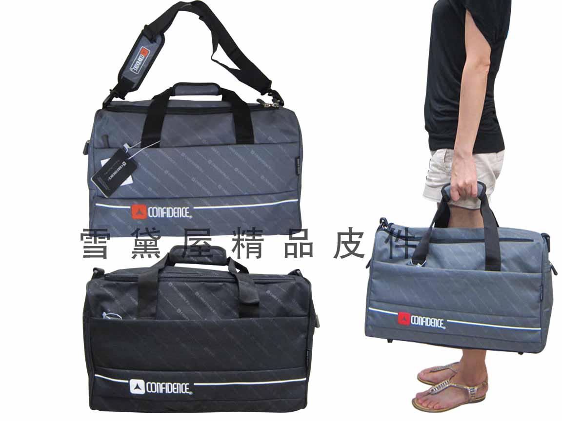 ~雪黛屋~CONFIDENCE 旅行袋MIT製中容量防水尼龍布1680D U型大開口設計 方便取放大型物品ACB8102