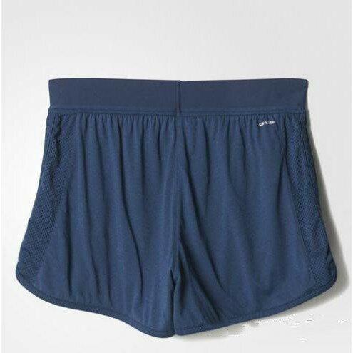 Adidas Mesh Shorts 女裝 短褲 慢跑 排汗 透氣 藍 【運動世界】 AJ6361