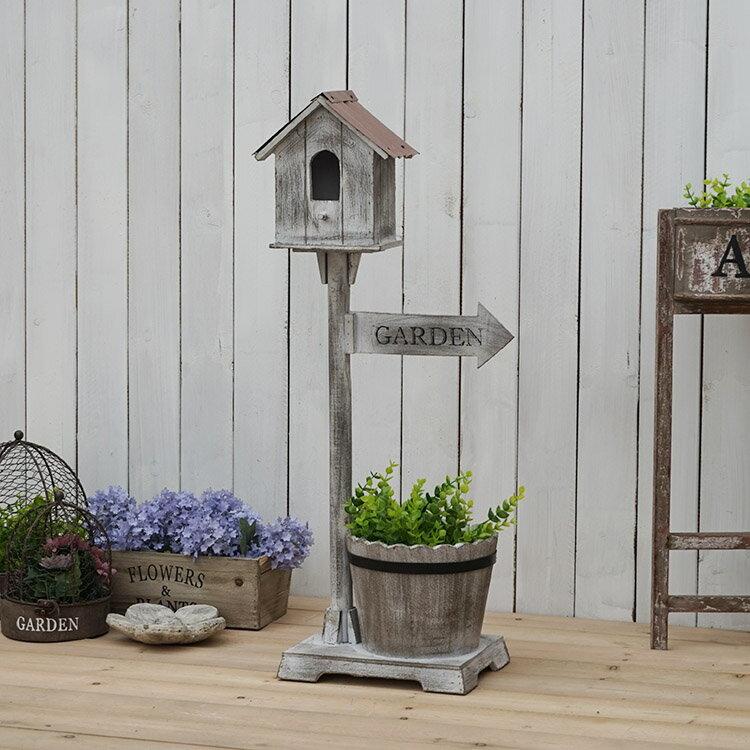 法式鄉村做舊屋檐指示牌木桶花架酒吧店鋪咖啡店裝飾擺件園藝雜貨1入