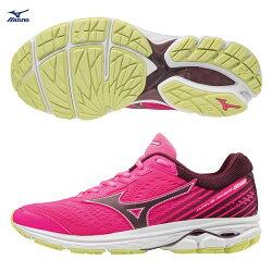 WAVE RIDER 22 一般型 女款慢跑鞋 J1GD183166(粉紅X黑)【美津濃MIZUNO】