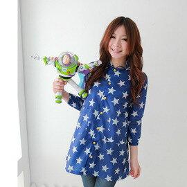 ●Rainbooboo●藍天星星風雨衣-休閒時尚的防風大衣 兒童雨衣【D1005】