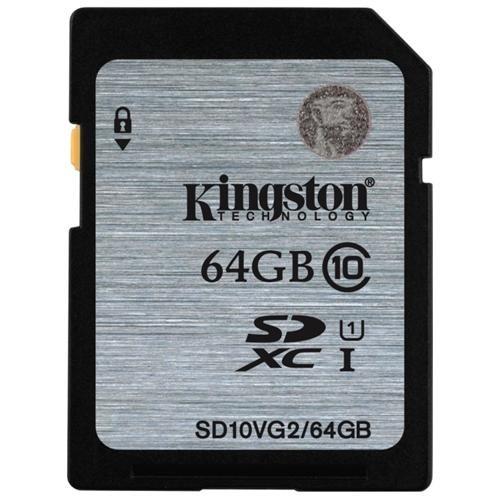 Kingston 64GB SDXC 45MB/s UHS-I U1 Class 10 64G SD C10 full HD Flash Memory Card SD10VG2/64GB