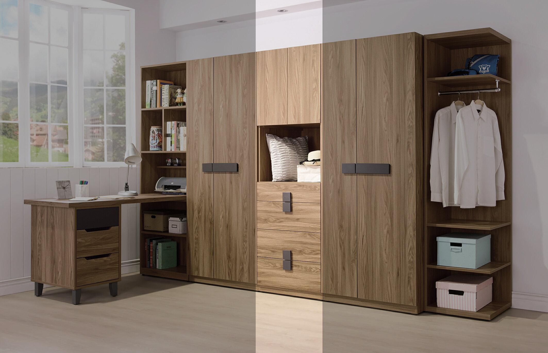【尚品家具】HY-B094-04 佛羅倫斯2尺四抽衣櫥