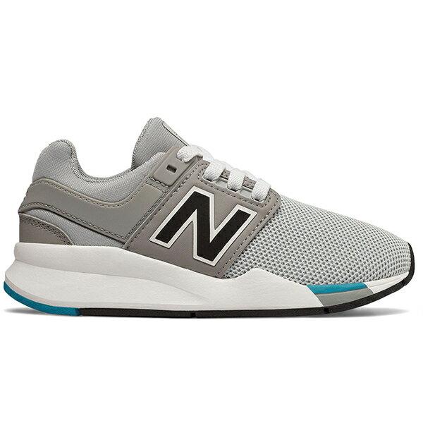 Shoestw【PH247FC】NEW BALANCE NB247 中童鞋 運動鞋 鬆緊帶 免綁帶 襪套 Wide 網布 灰白藍 0