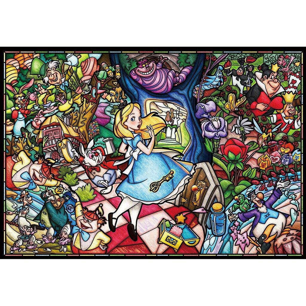 Tenyo 迪士尼 愛麗絲夢遊仙境 1000片 拼圖 彩色玻璃 透明壓克力材質 彩繪玻璃-純白 日本正版【預購】【星野日本玩具】