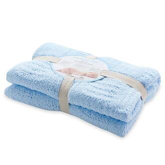【淘氣寶寶】奇哥 立體格紋柔舒毯(小-80×100公分)(藍色)【奇哥正品】