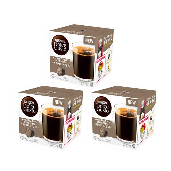雀巢DolceGusto美式經典濃烈咖啡膠囊(AmericanoIntenso)(3盒組,共48顆)加贈黑人專業護齦抗敏感牙膏120g