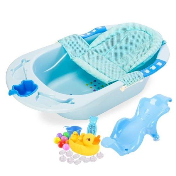 浴桶 泡澡桶兒童浴盆寶寶洗澡盆兒童洗浴盆小孩浴桶新生兒用品大號加厚