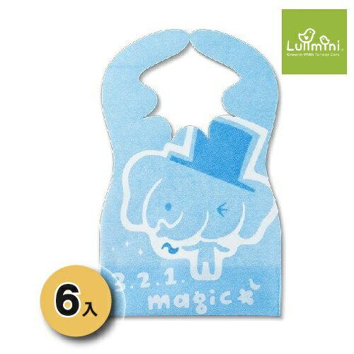 台灣【Lullmini】Floret 嬰幼童拋棄型圍兜6入(大象) 0