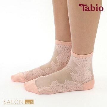 【靴下屋Tabio】薄紗側花邊短襪日本職人手做