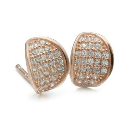 925純銀耳環鑲鑽耳飾~ 簡約耀眼迷人情人節 女飾品2色73dm115~ ~~米蘭 ~