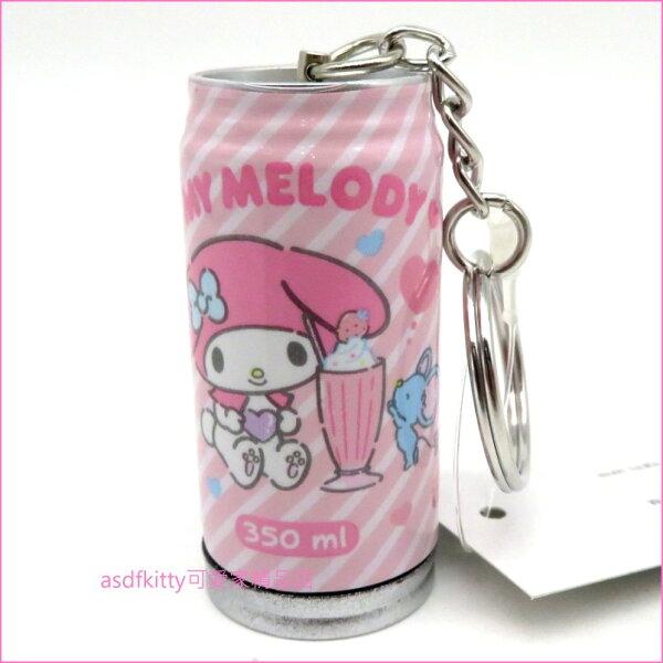 asdfkitty可愛家☆美樂蒂罐型原子筆鑰匙圈吊飾-日本正版商品