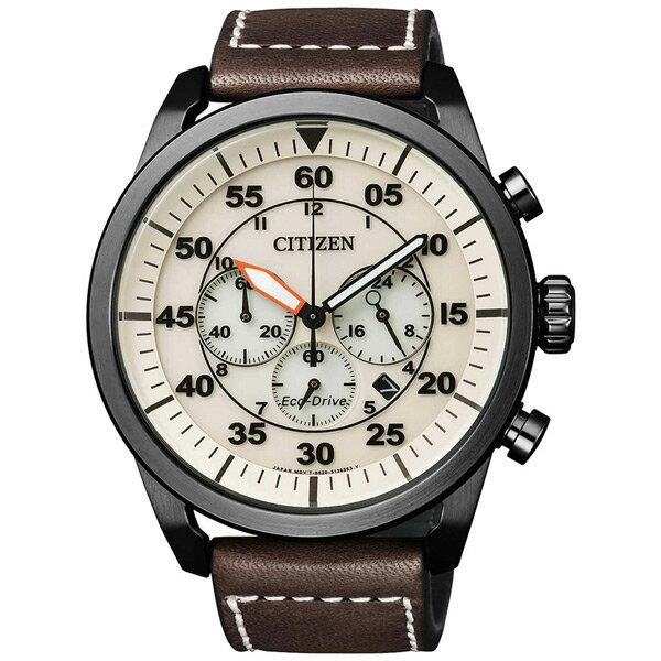 citizen星辰CA4215-04W西部牛仔光動能計時碼錶/白面45mm