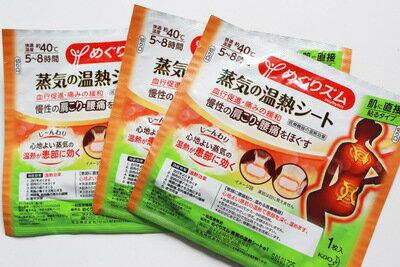 日本KAO花王 蒸氣感溫痠痛溫熱貼布 熱肩頸腰部貼 肩頸貼 腰痛貼 (1枚)