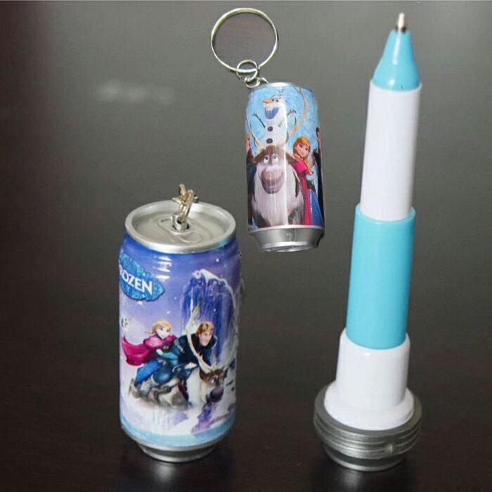 糖衣子輕鬆購【DS220】冰雪奇緣可樂造型鑰匙釦雪寶易拉罐伸縮原子筆