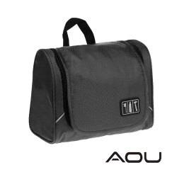 【AOU】可掛式盥洗包 化妝包 旅行收納包(黑色107-044)【威奇包仔通】