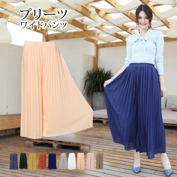 日本必買女裝DarkAngel高雅雪紡綢高腰寬腿褲-免運代購