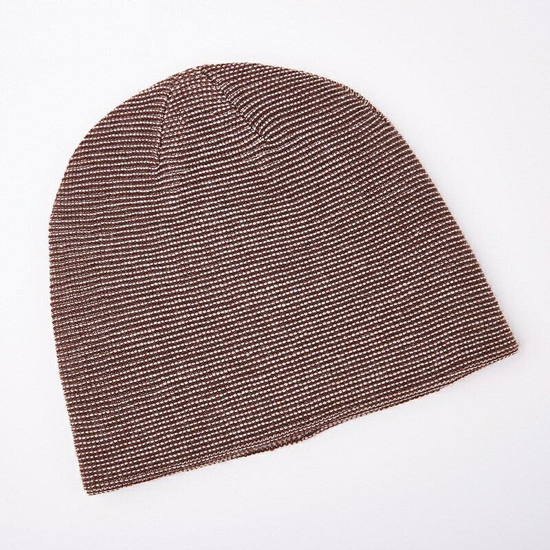 毛帽羊毛針織帽-點點提花捲邊包頭男帽子4色73wj43【獨家進口】【米蘭精品】 1