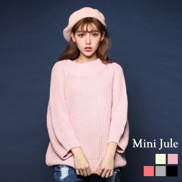 小豬兒 Mini Jule:★現貨★針織毛衣兩穿一字領燈籠袖毛衣小豬兒MiNiJule【SUD72001888】