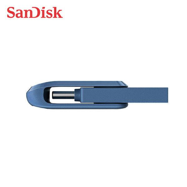 俗卡有力 SanDisk Ultra GO TYPE-C USB 3.1  高速 雙用 OTG 旋轉隨身碟 安卓手機平板適用 沉穩海軍藍 32G 64G 128G