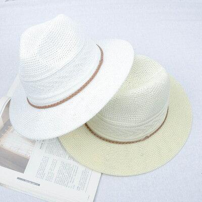50%OFF SHOP帽子女夏天麻繩遮陽防曬帽 大沿沙灘草帽女士海邊太陽帽子潮流~E022