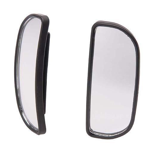 權世界@汽車用品 CARMATE 黏貼式超廣角安全行車輔助鏡 長半圓型  2入 CZ245
