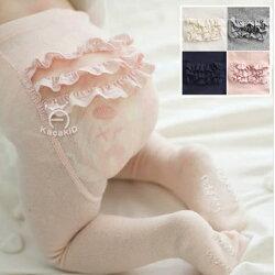 甜美層層蕾絲花邊屁屁褲襪 (有一般跟厚毛圈款) 字體防滑膠 橘魔法Baby magic 兒童褲襪 童裝